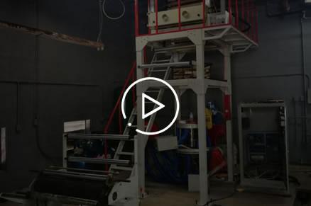SJ55-800H High speed PE film blowing machine