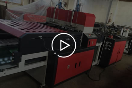 HSRQ-500x2G High speed Automatic double lines T-shirt bag makingmachine