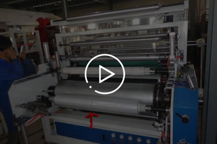 LYM-1000x2 High speed double layers PE stretch film machine