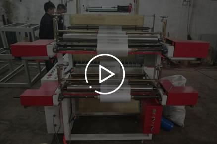 HSLJ-800 Computer double layers roll bag making machine